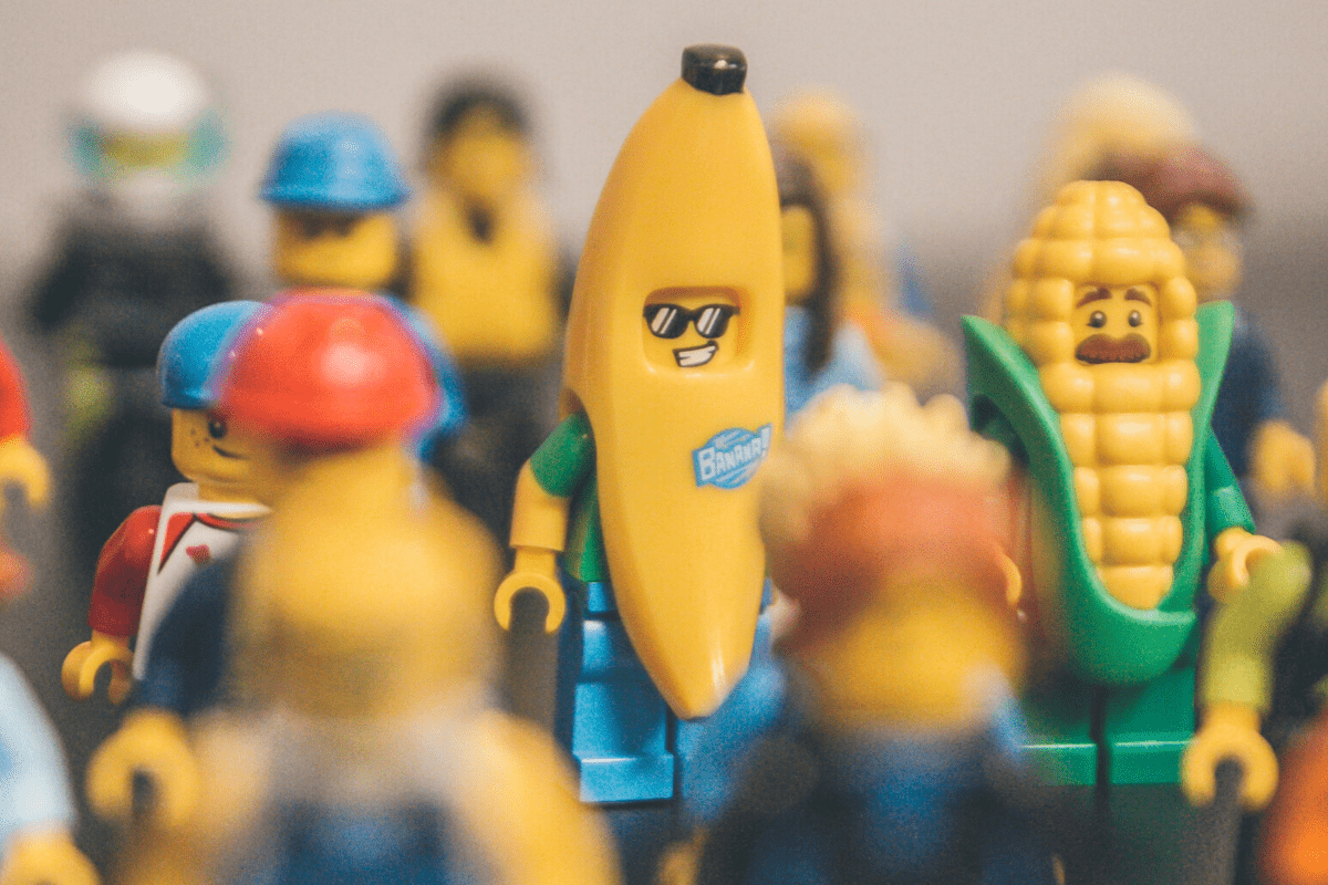 Lego toys in different costumes