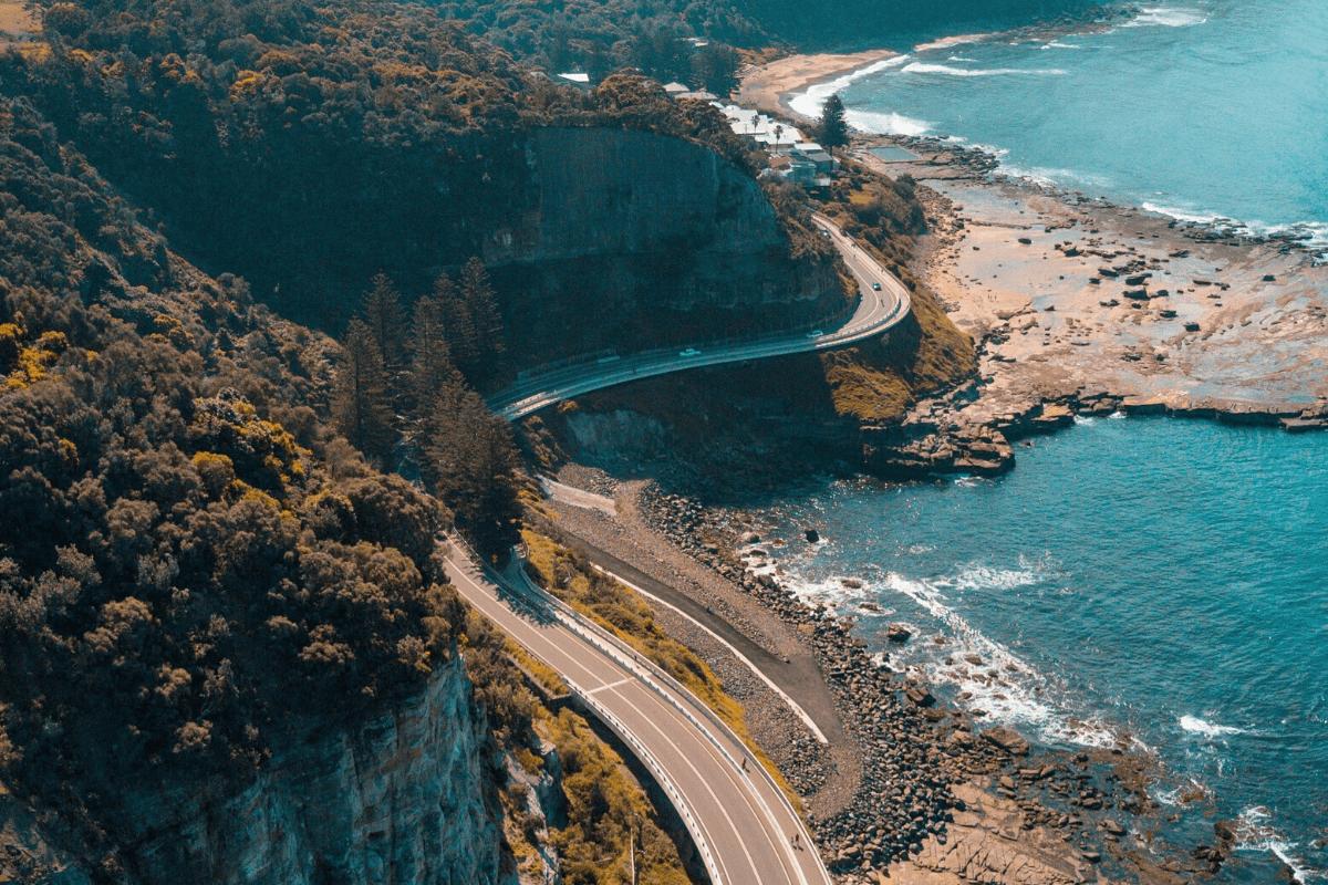 winding road along the coast