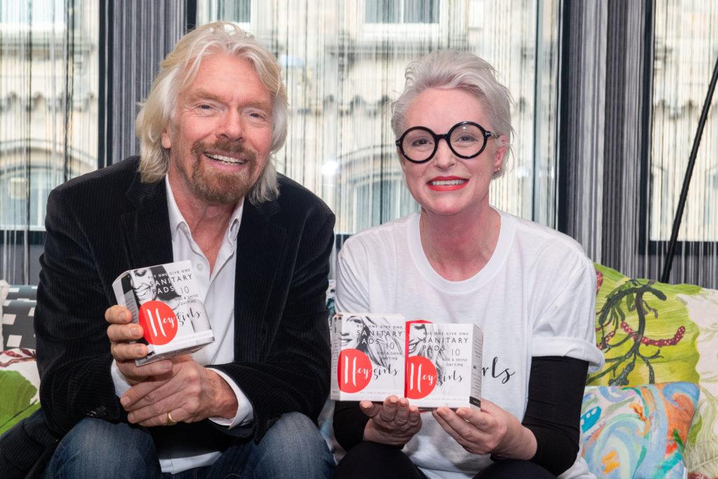 Richard Branson and Celia Hodson