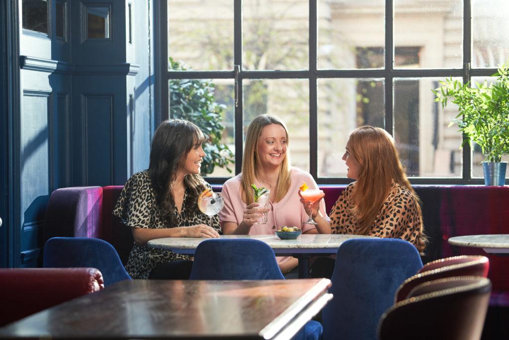 ladies having cocktails