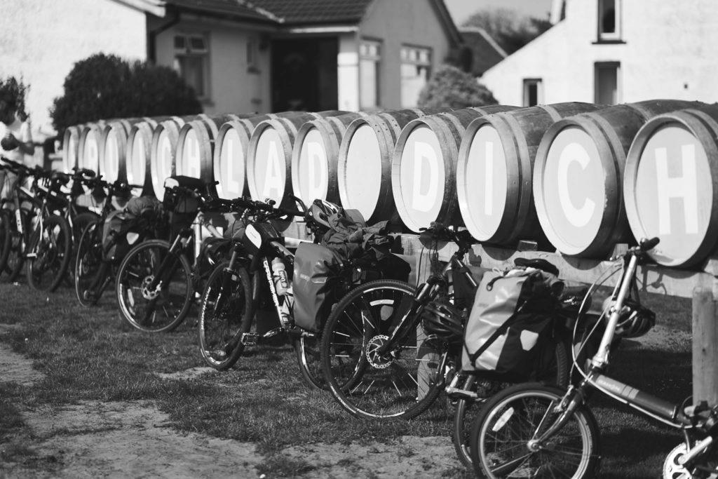 bikes outside Bruichladdich