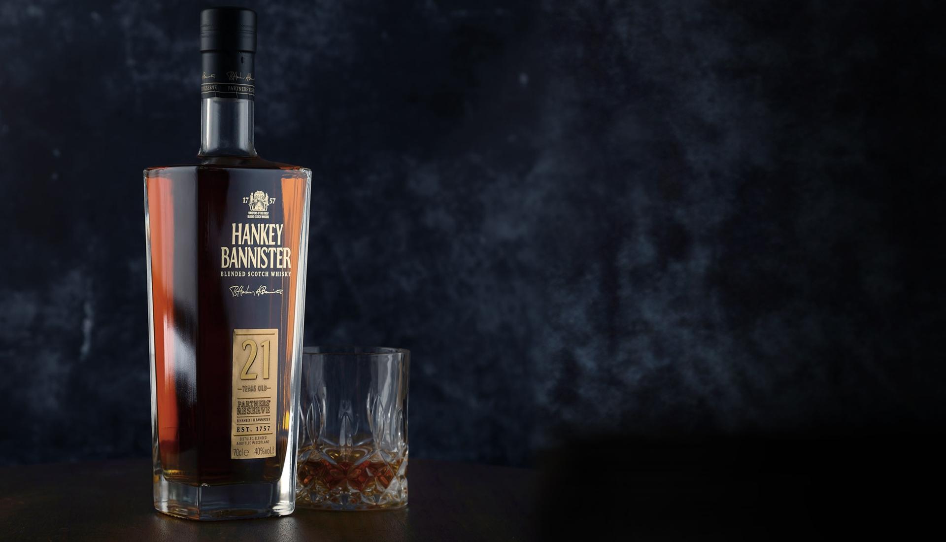 bottle of premium whisky