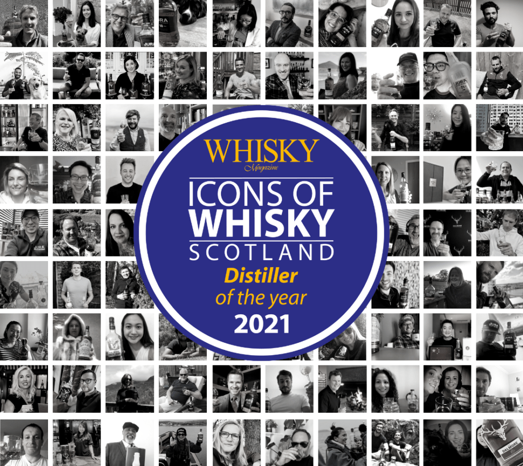 collage of people drinking whisky